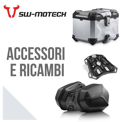 Accessori moto SW-Motech dal paramotore al bauletto posteriore e vaiigie laterali