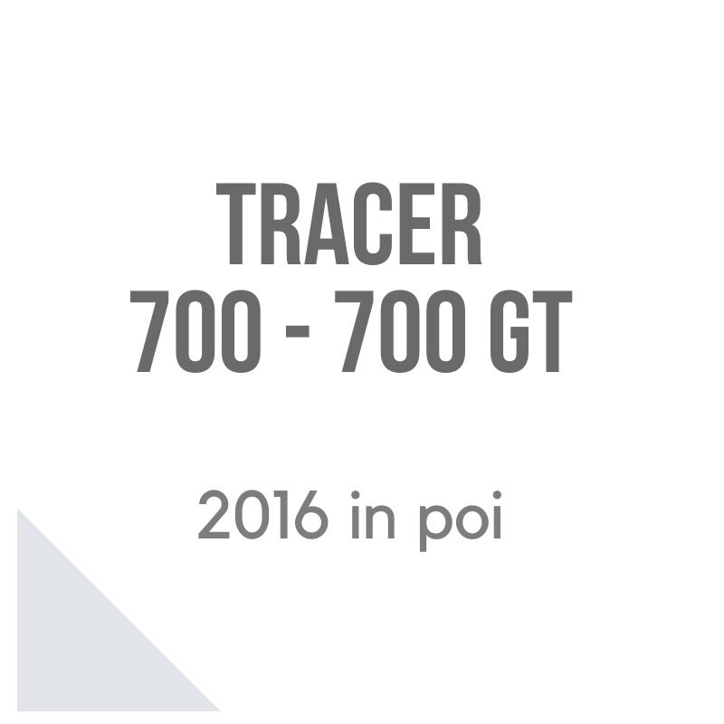 Yamaha Tracer 700 GT 2016 moto accessori bauletto e valigie laterali Givi